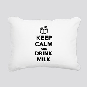 Keep calm and drink Milk Rectangular Canvas Pillow